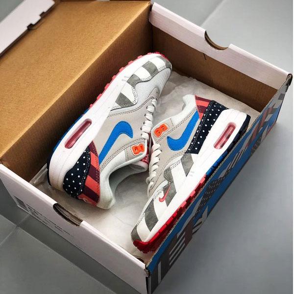 22fb59552f6dd40967cff2b6ecff1e4c - Piet Parra x Nike Air Max 1 復古 氣墊慢跑鞋 情侶款 灰白色-現貨限量❤️