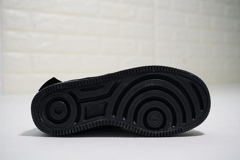 243c52e56e2cde1e5e31ed4881944710 - Nike Wmns Air Force 輕量 增高 低幫 百搭 休閒板鞋 女生 全黑-熱銷NO1❤️