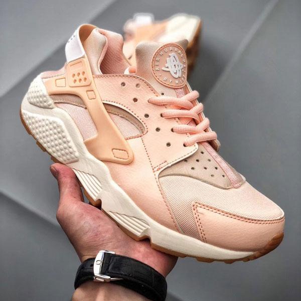 2b2a8954f195158949d990ad1a754b93 - Nike Air Huarache Run Premium 華萊士 慢跑鞋 粉橘白 女款 休閒-超熱賣❤️