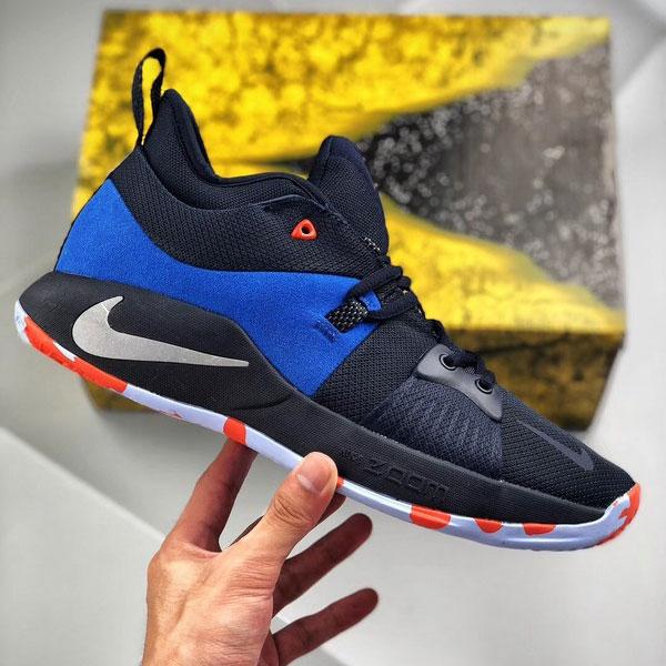 319f7ef5ef5b695ada98c6bb052cdaeb - Nike 喬治保羅二代 Sony PlayStation 男子籃球鞋 藍色 耐磨 防滑-現貨預購❤️