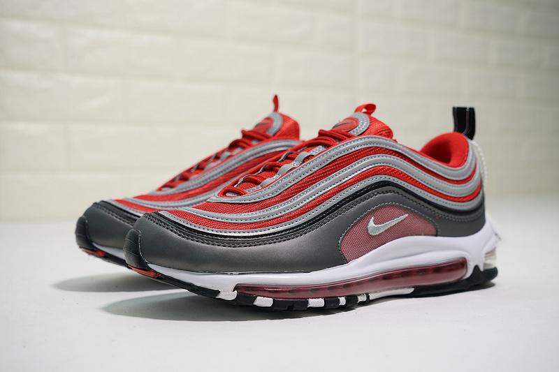3d6d0770f60273ca36cdd1263961a266 - Nike Air Max 97 全掌氣墊慢跑鞋 灰紅色 情侶款 休閒 時尚 新品-熱銷推薦❤️
