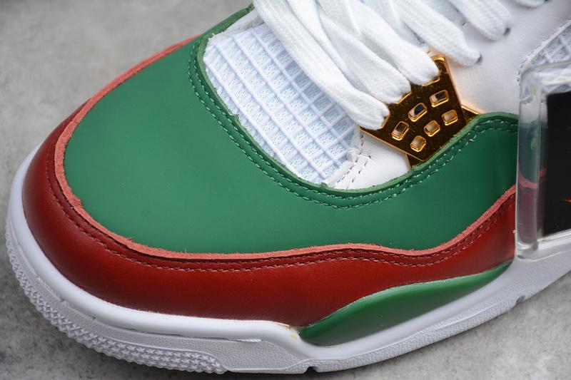 3e35b0aa0e5a6725d6ae985a20fdb38c - Air Jordan 4 RETRO Gucci 聯名限定款 白綠紅 休閒籃球鞋 男款-超熱賣❤️