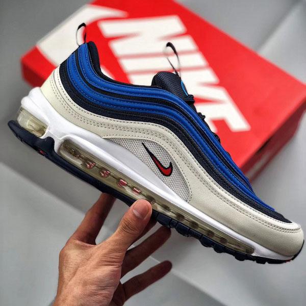 422bb848dad897f5b04d1f3cb8fc50d2 - Nike air max 97 SE PULL TAB 深藍米白 全掌氣墊慢跑鞋 男款-熱銷推薦❤️