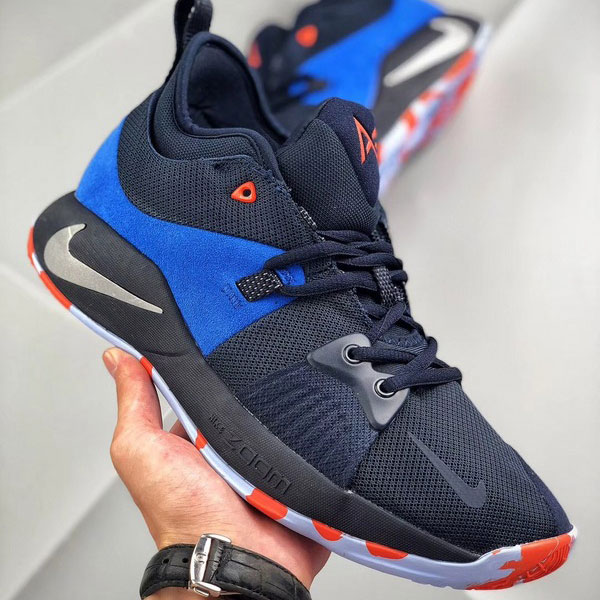 45c267bca3abcdb6b8fab8e599e0edf6 - Nike 喬治保羅二代 Sony PlayStation 男子籃球鞋 藍色 耐磨 防滑-現貨預購❤️
