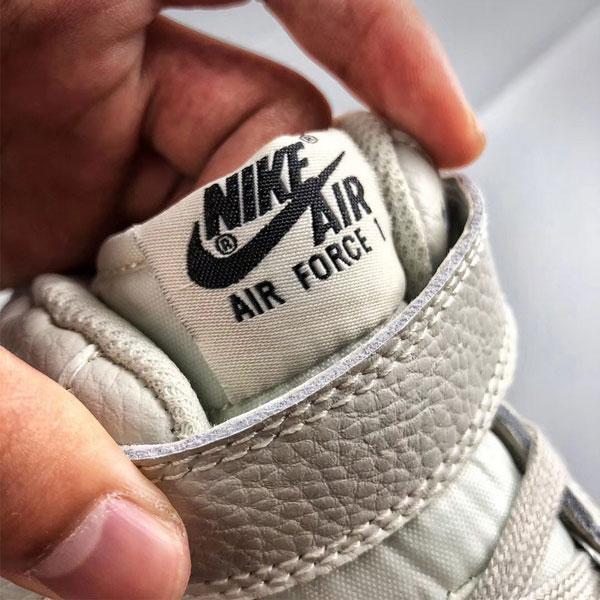 4c2ac30d136f662112135e4a32460c48 - Nike Air Force 1 Mid 中幫 頭層 荔枝紋 牛皮 水泥灰 休閒板鞋-熱銷推薦❤️