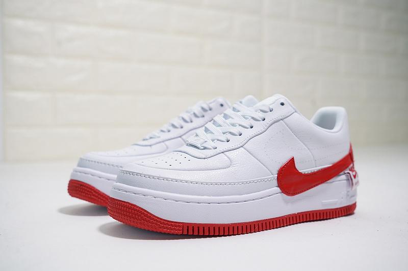 4f3d6c031a0f00f8fe8c77addab98c90 - Nike Wmns Air Force 輕量 厚底增高 低幫 百搭 板鞋 女生 白紅色-熱銷NO1❤️