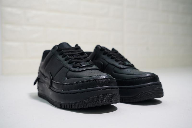 5125f2caf86291f167f0a7fcc65d7a77 - Nike Wmns Air Force 輕量 增高 低幫 百搭 休閒板鞋 女生 全黑-熱銷NO1❤️