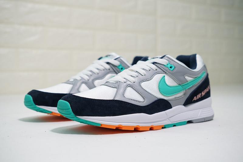 565f91a8468bcd24489835558c4410d7 - Nike air span 2 男子 跑步鞋 黑白灰 綠鉤 透氣 舒適 時尚-熱銷推薦❤️