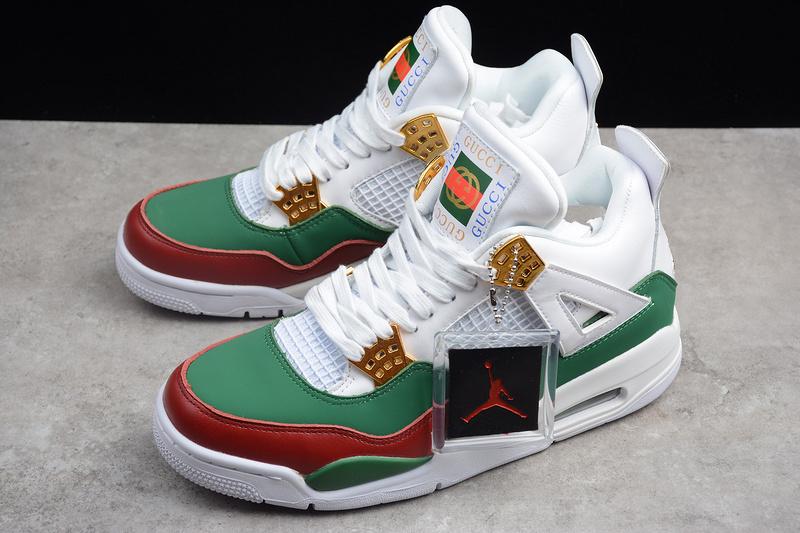 595ae9c013ea975e3084cdc056ca0feb - Air Jordan 4 RETRO Gucci 聯名限定款 白綠紅 休閒籃球鞋 男款-超熱賣❤️