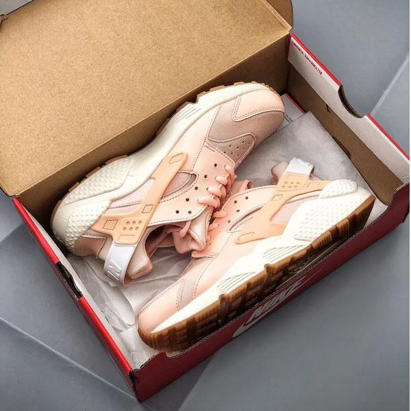 631dc6524838d31d77212fbc35c6b0d3 - Nike Air Huarache Run Premium 華萊士 慢跑鞋 粉橘白 女款 休閒-超熱賣❤️