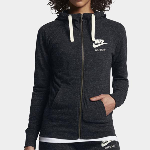 6dc3c89ff9434242807aed8cb8324463 - Nike Sportswear 女子 拉鏈開襟連帽衫 運動外套 深灰色-現貨限量❤️