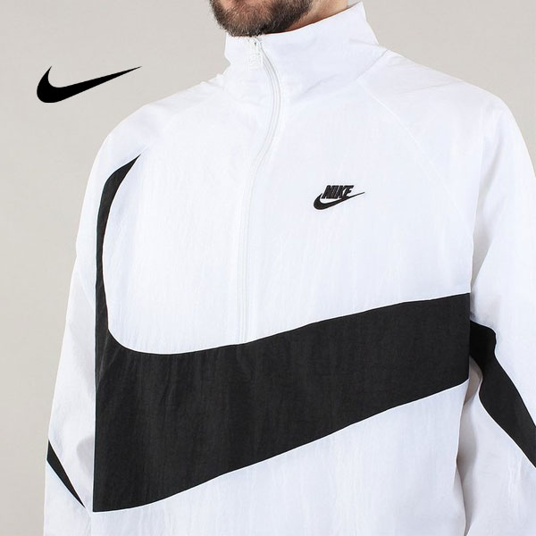 708666907789ebe38f6bc6dd75de9cd6 - Nike 大鉤 街舞同款 半拉鏈 男款 運動夾克 白色 休閒 百搭-熱銷推薦❤️
