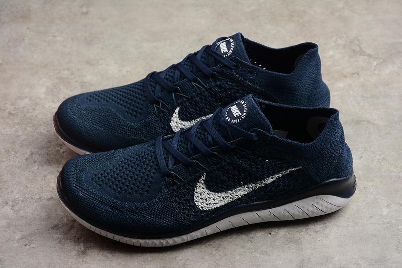 7812b4240c16e8f51e5b59f6e3bf0058 - Nike Free Run 2018 男款 針織 休閑慢跑鞋 深藍色 時尚 百搭-限時特賣❤️