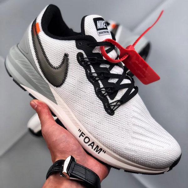 7966c30440504856c1edec6fc78d1d2b - Off white x Nike Air Zoom Structure 飛織 慢跑鞋 男鞋 白色 時尚-熱銷NO1❤️