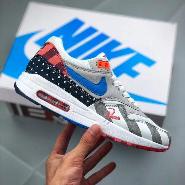 83265014cac294570808d776d2cae7c2 - Piet Parra x Nike Air Max 1 復古 氣墊慢跑鞋 情侶款 灰白色-現貨限量❤️