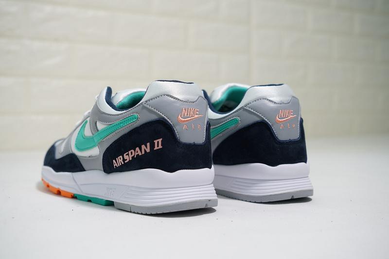 85a5d681dafae10d8cf4e9efeaccb45e - Nike air span 2 男子 跑步鞋 黑白灰 綠鉤 透氣 舒適 時尚-熱銷推薦❤️