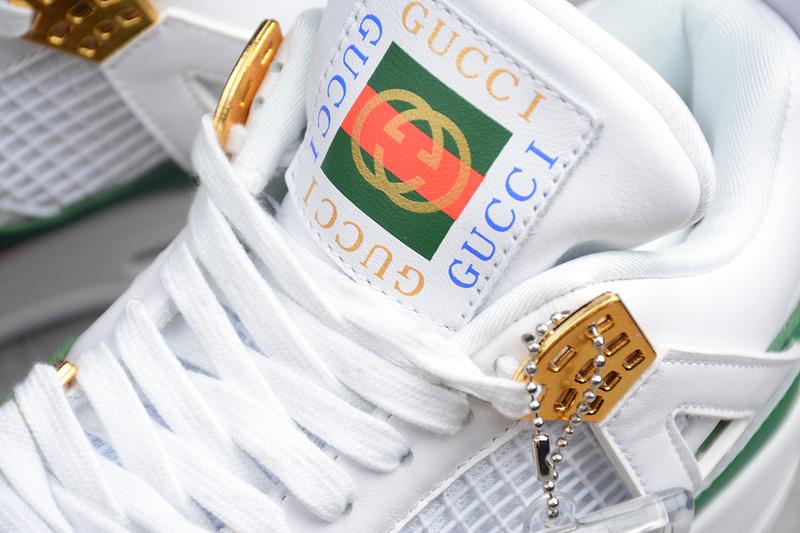 93f8dc7e81a3dbf91c9f866c30eee888 - Air Jordan 4 RETRO Gucci 聯名限定款 白綠紅 休閒籃球鞋 男款-超熱賣❤️