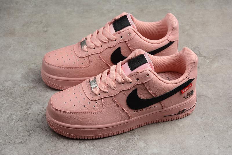 95d9502f0ab70b4013e7bee7bfe4a1a9 - Supreme x Nike Air Force 1 聯名款 粉色 女鞋 休閒 潮流 新品-限時特賣❤️