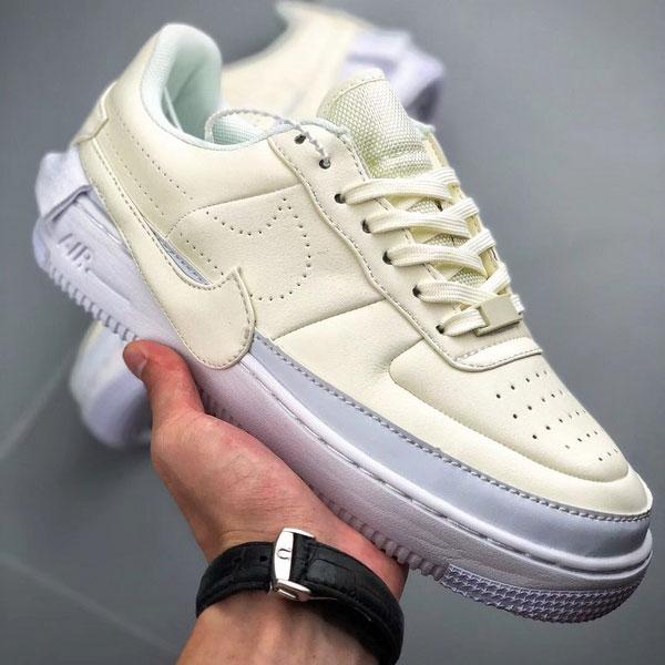 9a75e15f1c5622f939fbdee9621704b6 - Nike Wmns Air Force 1 空軍一號 女款 米白色 休閒板鞋 百搭-熱銷推薦❤️