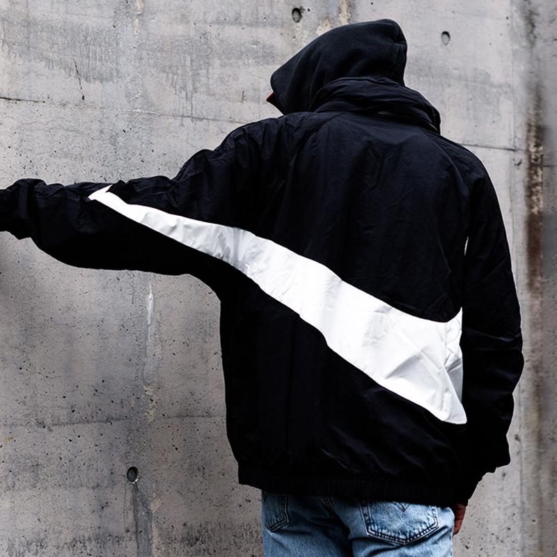 9b8b5380dc337719023d36a3570ced12 - Nike 大鉤外套 街舞同款 半拉鏈 男款 運動夾克 黑色 休閒-超潮款❤️