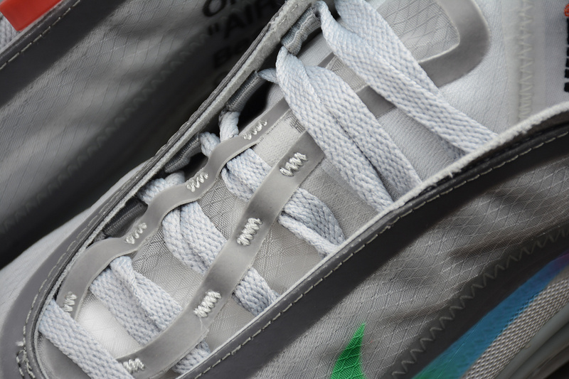 a53cfc7d3590b17d692b7b5c6d73242f - Off White ow x Nike Air Max 97 子彈 慢跑鞋 情侶款 灰色 新款-超值人氣❤️