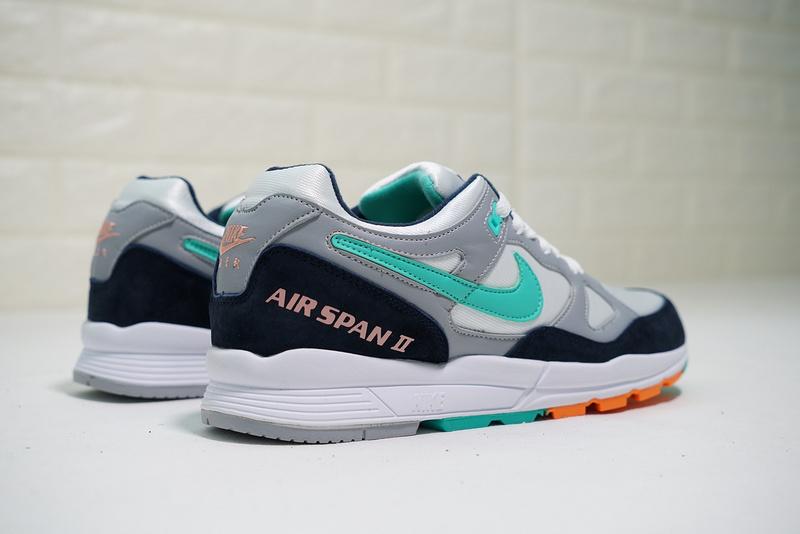 a8c5593b351e89a103a700319d00fdac - Nike air span 2 男子 跑步鞋 黑白灰 綠鉤 透氣 舒適 時尚-熱銷推薦❤️