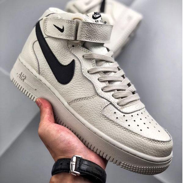 b5d5dd3d2997590d96f6b83acf0f3e96 - Nike Air Force 1 Mid 中幫 頭層 荔枝紋 牛皮 水泥灰 休閒板鞋-熱銷推薦❤️