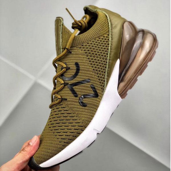 b744d58ed2d6574fc1be3beec75f8e22 - Nike Air Max 270 網面 半掌氣墊跑步鞋 軍綠色 運動 男款-限時特賣❤️