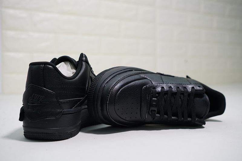 b8844ade0ca0ebe1daa8132035ad04ee - Nike Wmns Air Force 輕量 增高 低幫 百搭 休閒板鞋 女生 全黑-熱銷NO1❤️