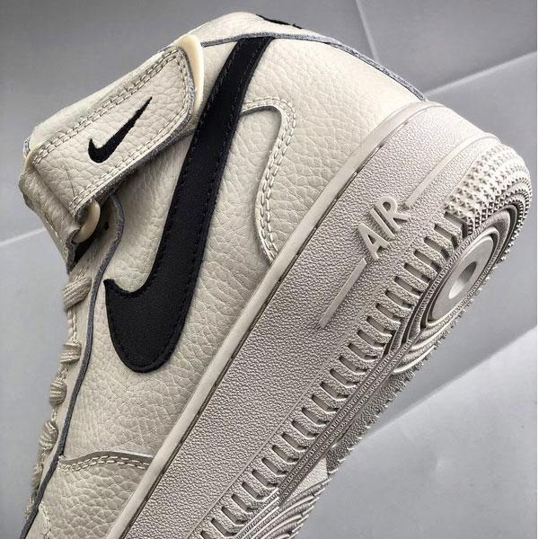 bab7535f95be3c69494de8f9a24b53cd - Nike Air Force 1 Mid 中幫 頭層 荔枝紋 牛皮 水泥灰 休閒板鞋-熱銷推薦❤️