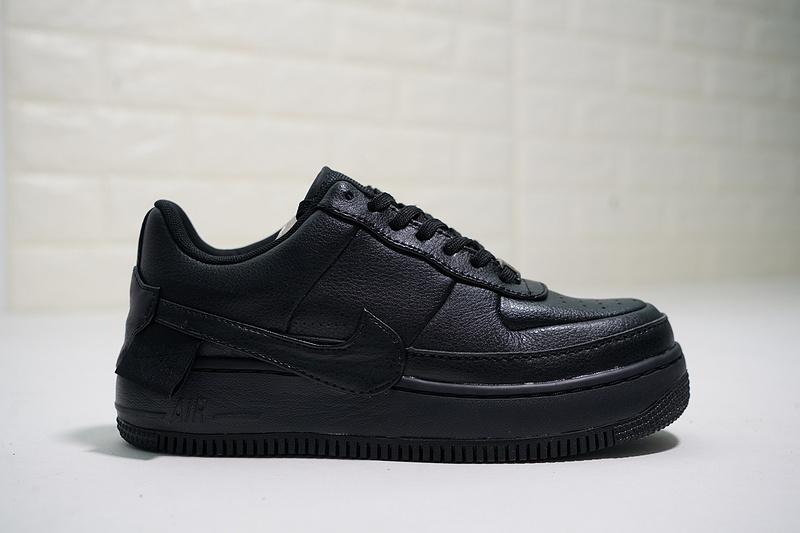 bff19fb29797a11b9e589dd4fae17d26 - Nike Wmns Air Force 輕量 增高 低幫 百搭 休閒板鞋 女生 全黑-熱銷NO1❤️