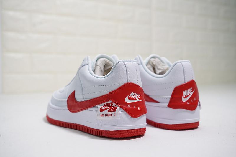 c0669ed189370800993a03ebbb82758e - Nike Wmns Air Force 輕量 厚底增高 低幫 百搭 板鞋 女生 白紅色-熱銷NO1❤️