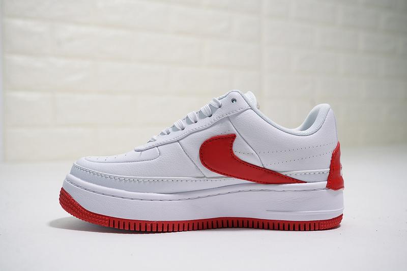 c74de1a242fb88da46c290539838f6ee - Nike Wmns Air Force 輕量 厚底增高 低幫 百搭 板鞋 女生 白紅色-熱銷NO1❤️