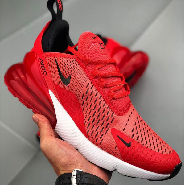 de230901a9ea489606e58e3c633ef5fc - Nike Air Max 270陳冠希同款 大紅 半掌氣墊慢跑鞋 情侶款-最高品質❤️