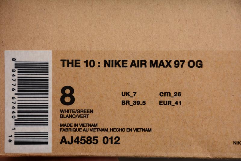 e130fb864c4734d86573d0c52e93bac3 - Off White ow x Nike Air Max 97 子彈 慢跑鞋 情侶款 灰色 新款-超值人氣❤️