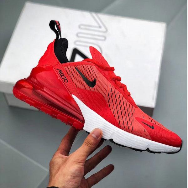 edebe89452d013fa9e648503b91487a4 - Nike Air Max 270陳冠希同款 大紅 半掌氣墊慢跑鞋 情侶款-最高品質❤️