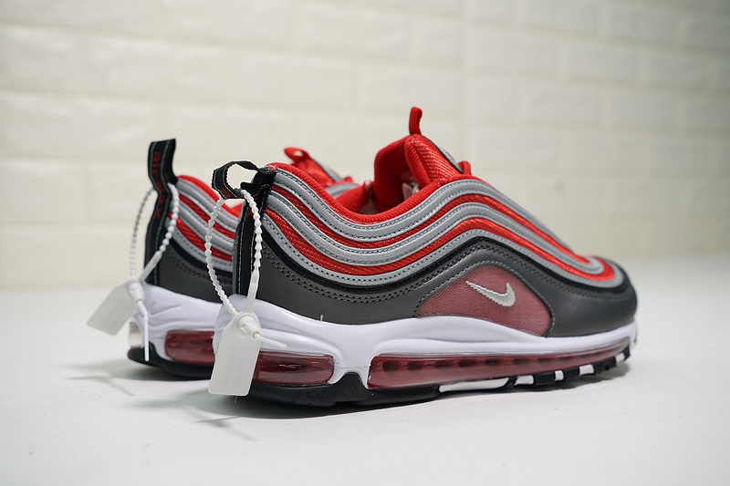 f905b9e166183fce2a707915529e48b1 - Nike Air Max 97 全掌氣墊慢跑鞋 灰紅色 情侶款 休閒 時尚 新品-熱銷推薦❤️