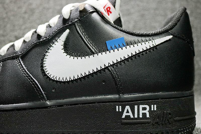 16b19af58c544b164c2f814f74c48969 - Nike Off White x Air Force 1 空軍壹號 聯名低筒黑色 AA5122-001