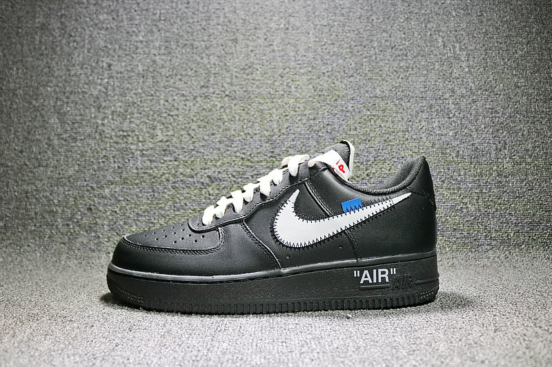 2035be934117647023b9ea3d11fb9493 - Nike Off White x Air Force 1 空軍壹號 聯名低筒黑色 AA5122-001