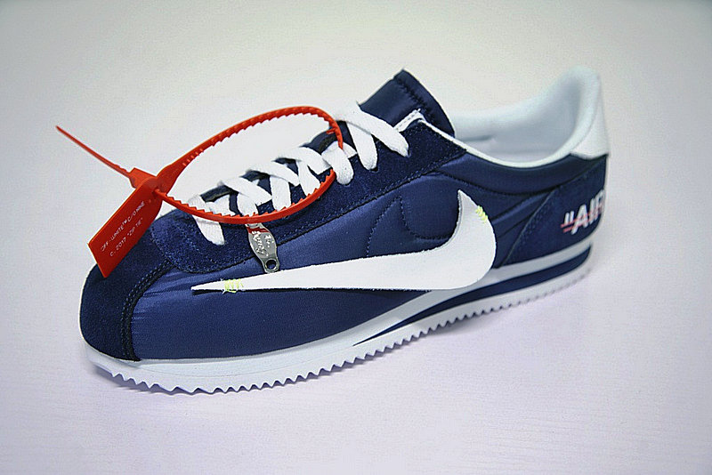 3bf1e963755334d49cd5129c42c949c3 - Virgil Abloh x Nike Classic Cortez Leather  OW寶藍 白勾 情侶鞋 AO4693-991