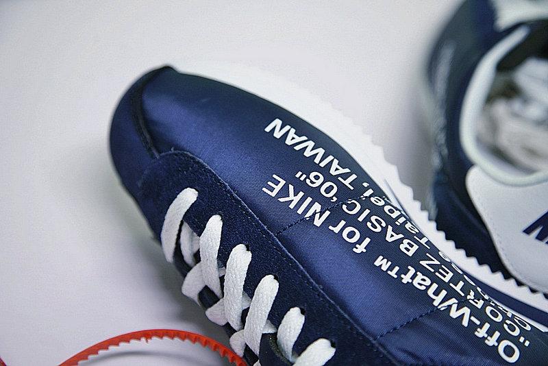 4c82ac4a20326aa156a92ea64e00fee5 - Virgil Abloh x Nike Classic Cortez Leather  OW寶藍 白勾 情侶鞋 AO4693-991