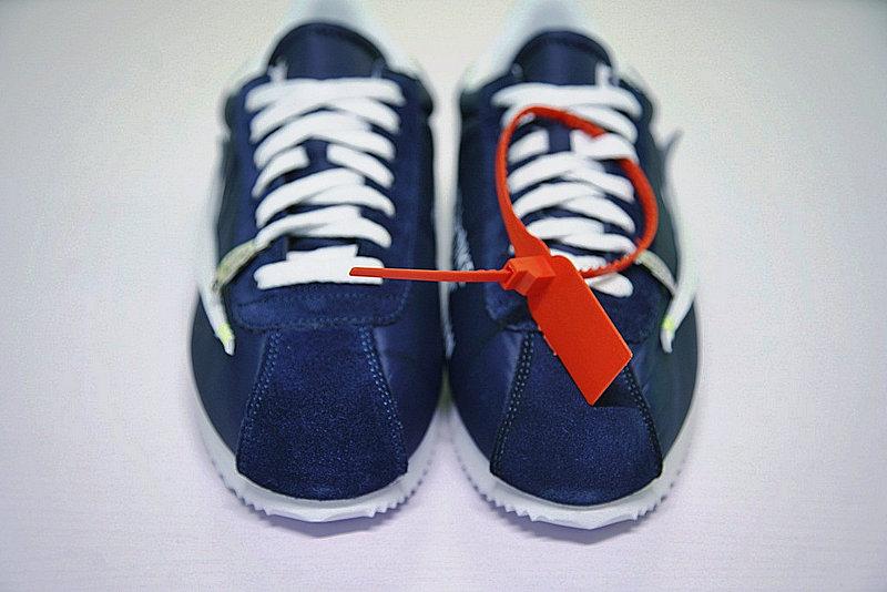 9dc58a2feea44a41ddab1d62f3226ea0 - Virgil Abloh x Nike Classic Cortez Leather  OW寶藍 白勾 情侶鞋 AO4693-991
