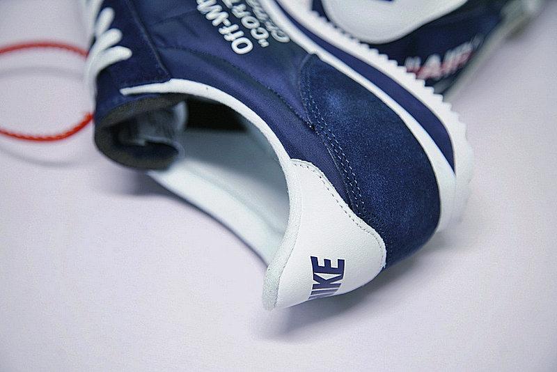b64ee81dbbbfde3c9a395dbe78efb462 - Virgil Abloh x Nike Classic Cortez Leather  OW寶藍 白勾 情侶鞋 AO4693-991