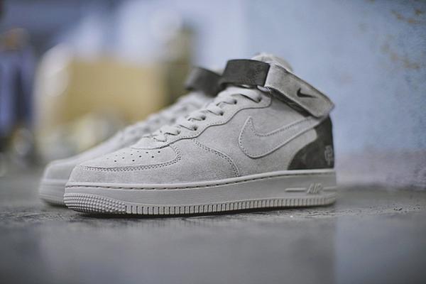 d55be557ec145541df4fabe385813cd0 - Reigning Champ x Nike Air Force 1 Mid 07空軍 中幫經典板鞋 麂皮灰暗灰 807618-200