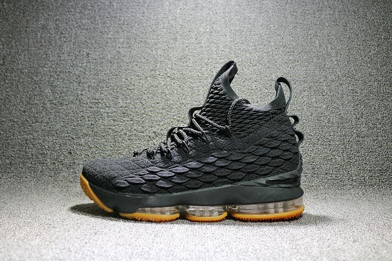 36377d875b28144dc3e8c49d5f66cbf3 - Nike LeBron 15 LBJ15 詹姆斯15代男子籃球鞋 黑黃897648-300