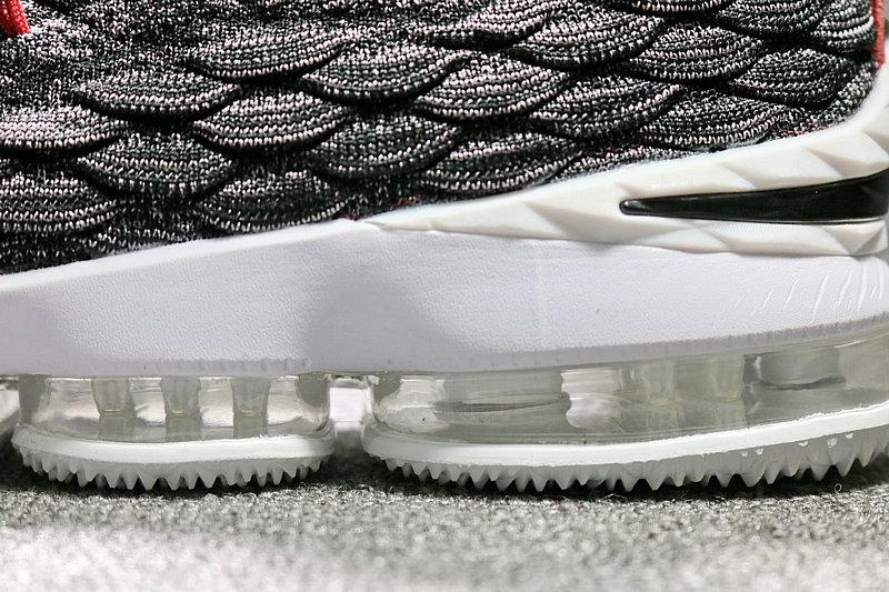58522c05059828e352149b5b0c26d5f7 - Nike LeBron 15 LBJ15 詹姆斯15代男子籃球鞋 灰紅 897648-003