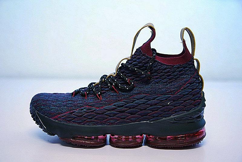 9b45619073a999a3 - Nike LeBron 15詹姆斯·勒布朗全新戰靴室內針織中筒籃球鞋系列 深藍紅 897649-300