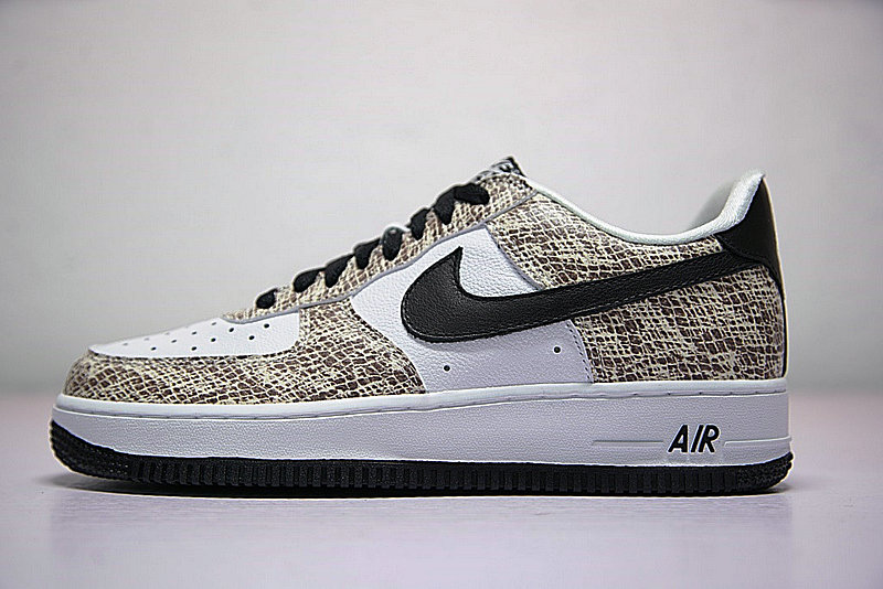 07235b2cda8c5eed812c5e334196cf5d - Nike Air Force 1 Low Premium Snake Cocoa 低筒 白黑 皮蟒 蛇紋 845053-104