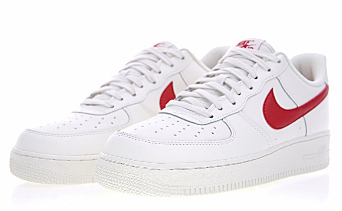 261449d8af9c8e20b9d9e4859afff4f9 - Nike Air Force 1 Low 07 低筒 皮革 板鞋 白紅 男鞋 315122-126