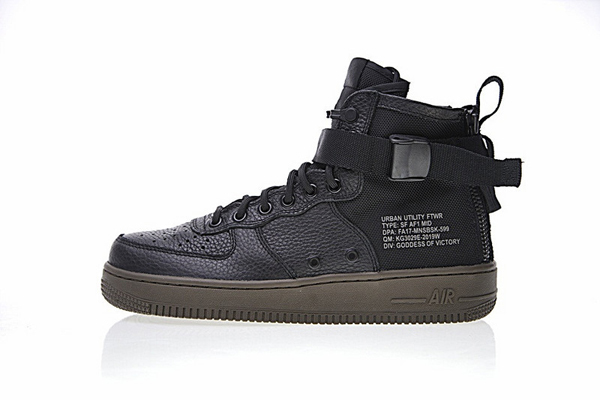 5ac4bcc003c52080e88cf1958759e171 - NIKE SF AIR FORCE 1 MID HAZEL皮革籃球鞋(黑) 男鞋 917753-002
